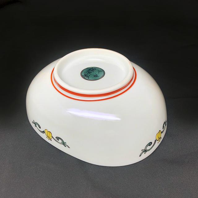 からす瓜 だ円鉢 【銀泉窯】