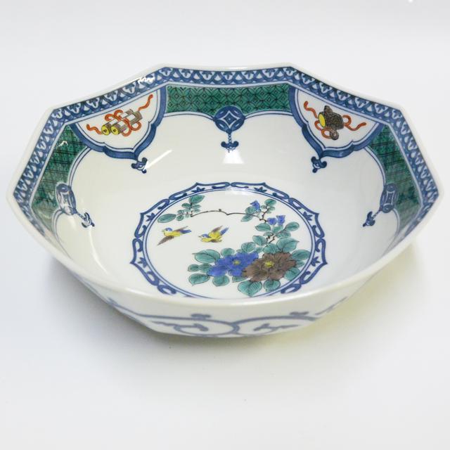 宝紋花鳥中鉢