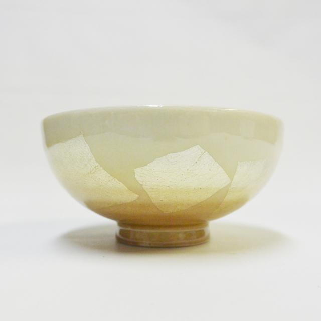 銀彩(オレンジ) ご飯茶碗