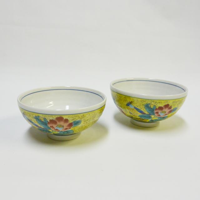 吉田屋椿に鳥 ご飯茶碗