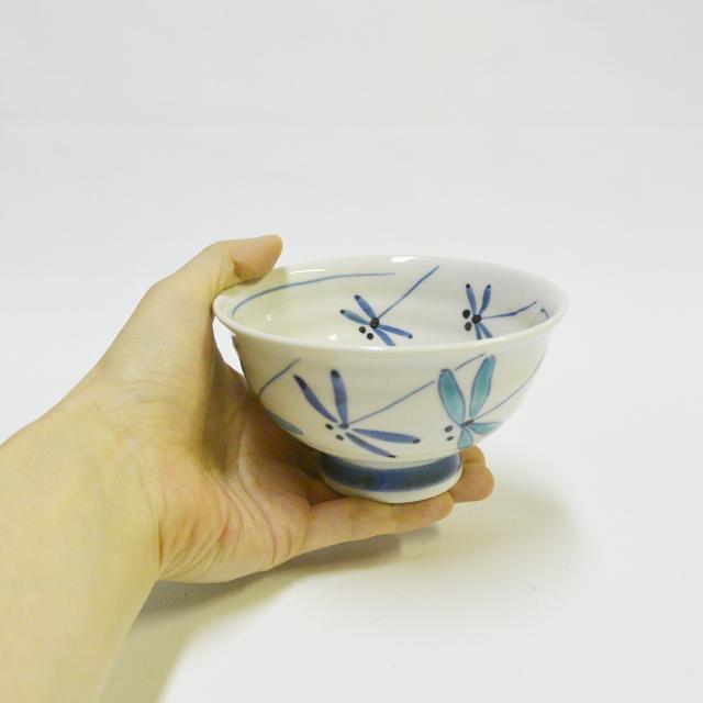 とんぼ(青) ご飯茶碗