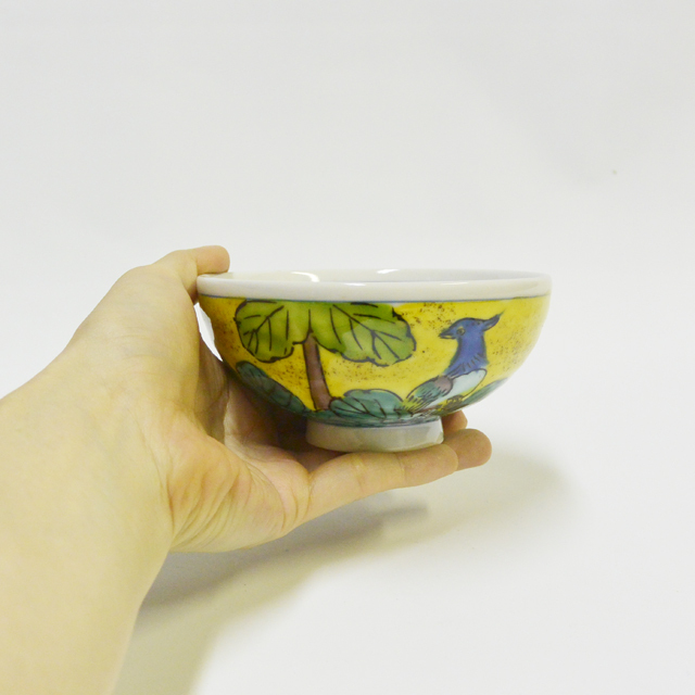 吉田屋花鳥 ご飯茶碗