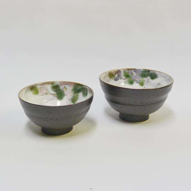 青良 椿 組ご飯茶碗