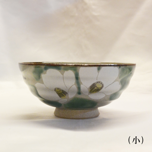銀椿 ご飯茶碗小