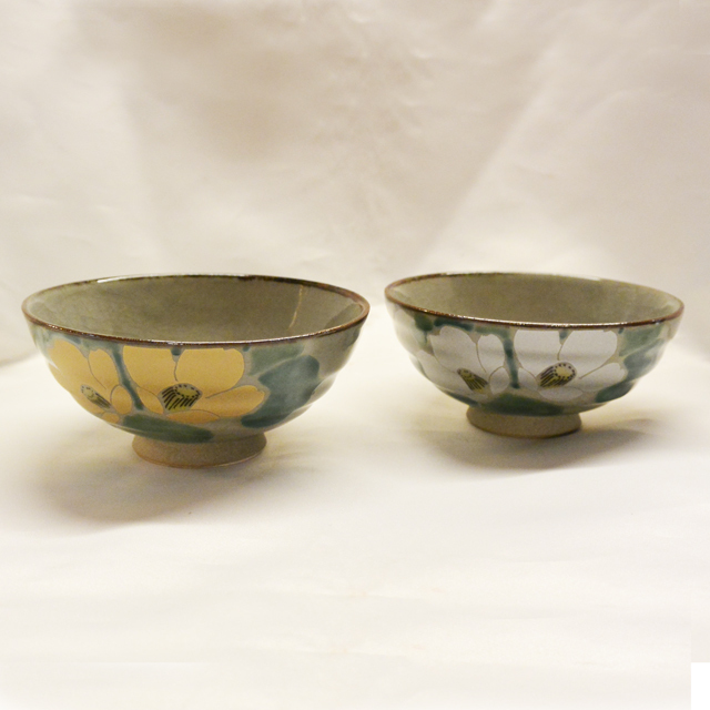 金銀椿 ご飯茶碗