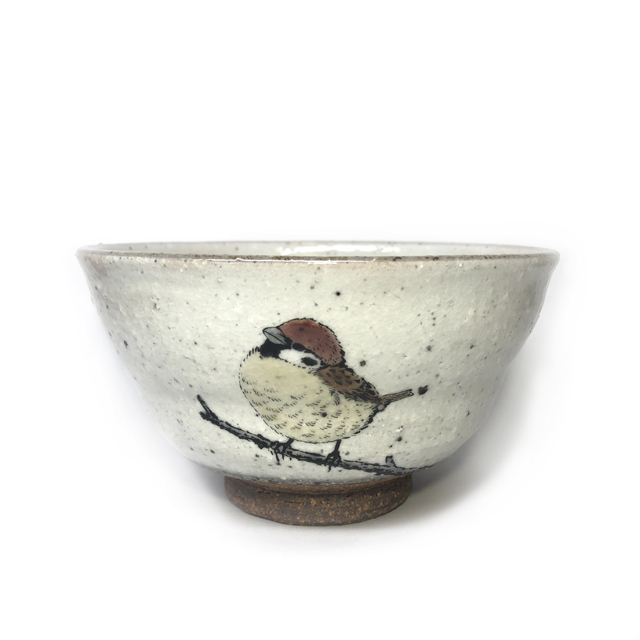 祥花 「のぞみシリーズ」 多用茶碗 【福良雀】