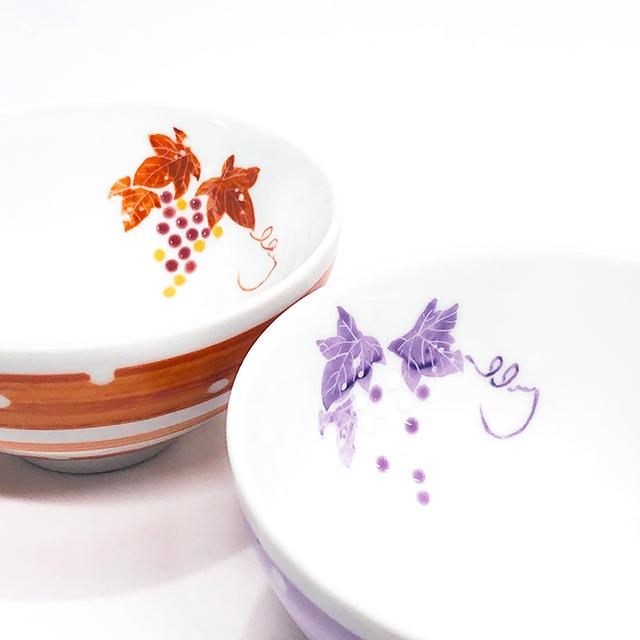九谷焼ぶどう飯碗