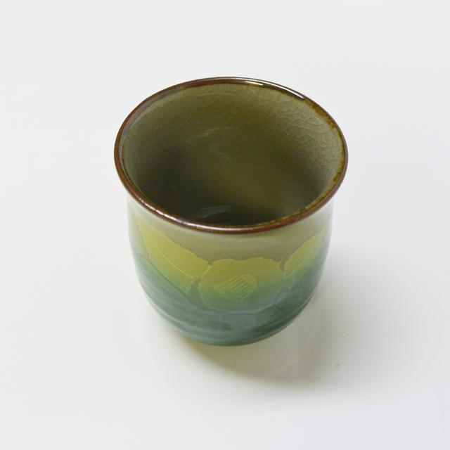 銀山茶花 湯呑