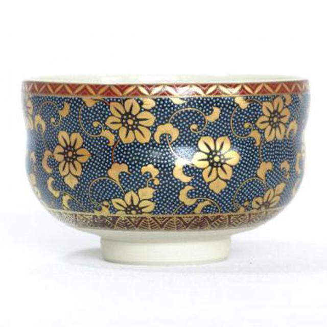 青粒鉄仙 抹茶碗