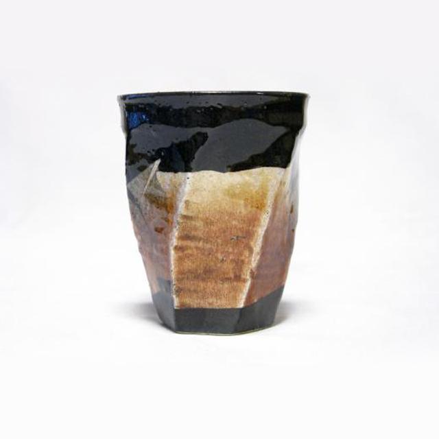 銀彩 荒削りねじりフリーカップ