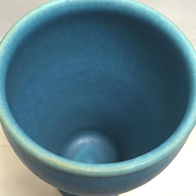 トルコ釉フリーカップ見込み