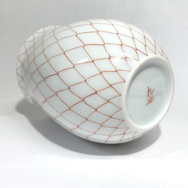 太田恵利香 赤絵網 白磁碗(かに)