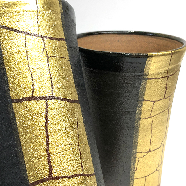 金箔ライン ビアカップ(フリーカップ)