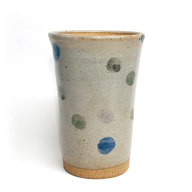 三色水玉 ビアカップ(フリーカップ)