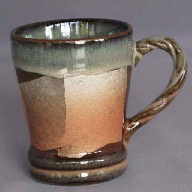 銀彩 縄手マグカップ