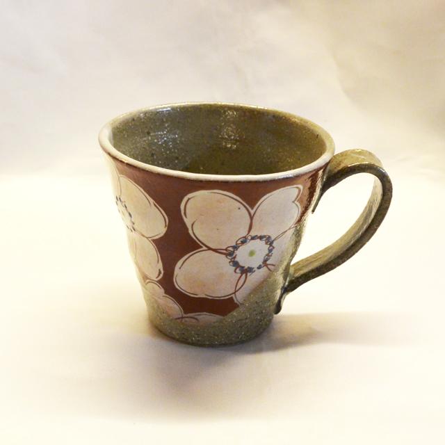 虚空蔵窯 朱花うらら マグカップ
