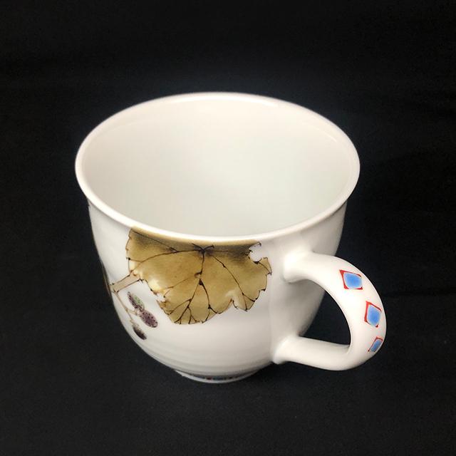 山田義明 野ブドウにジョウビタキ マグカップ