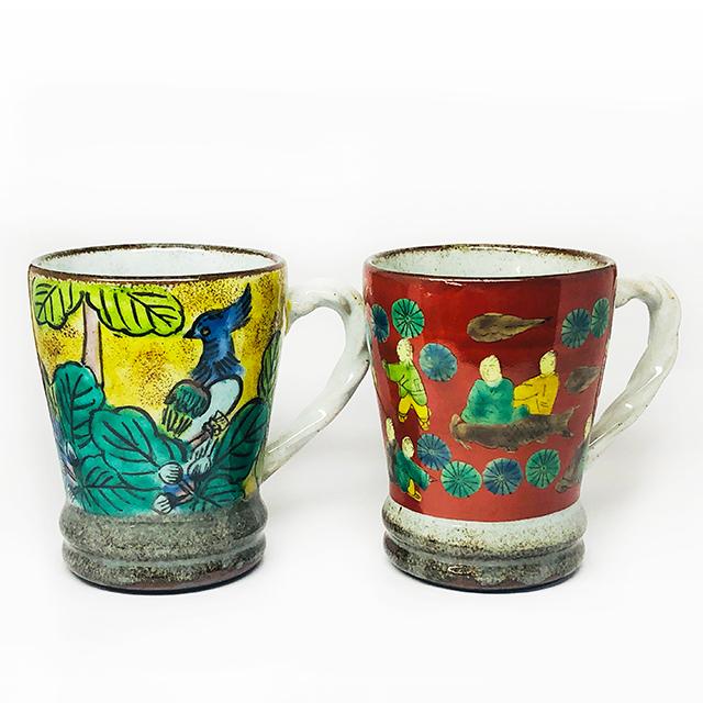 吉田屋花鳥・木米マグカップ