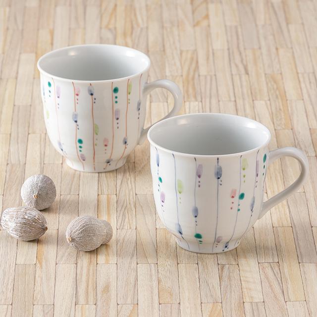 ペアマグカップ・彩り十草
