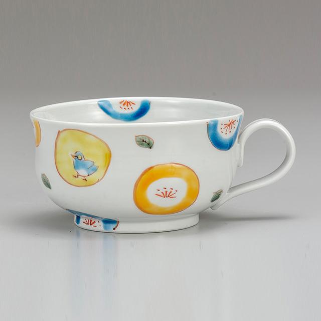 スープカップ・丸紋水玉