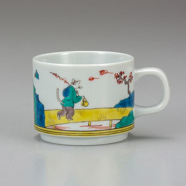 マグカップ・ねこ九谷