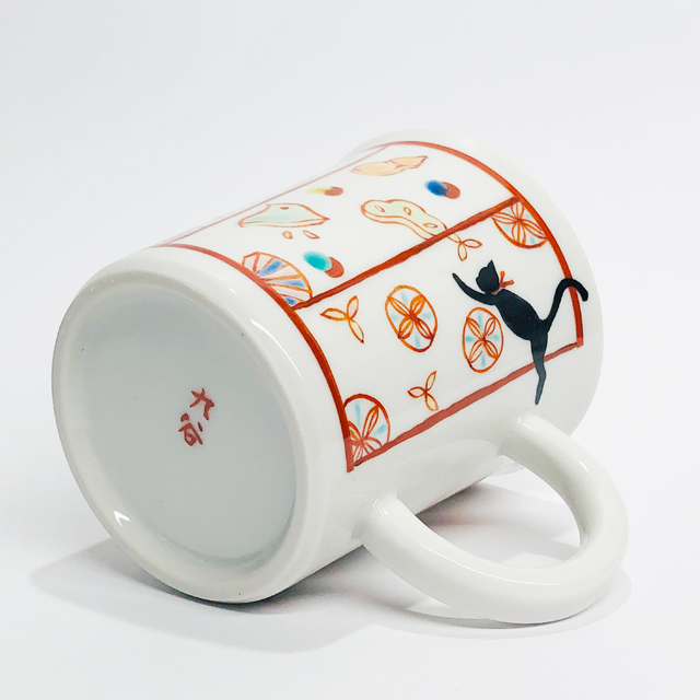 金沢猫マグカップ 縁起菓子