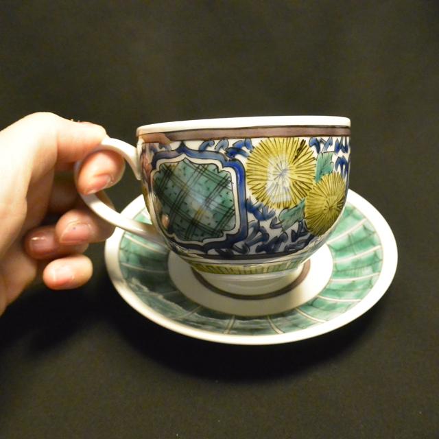 河島洋 吉田屋菊紋コーヒーカップ