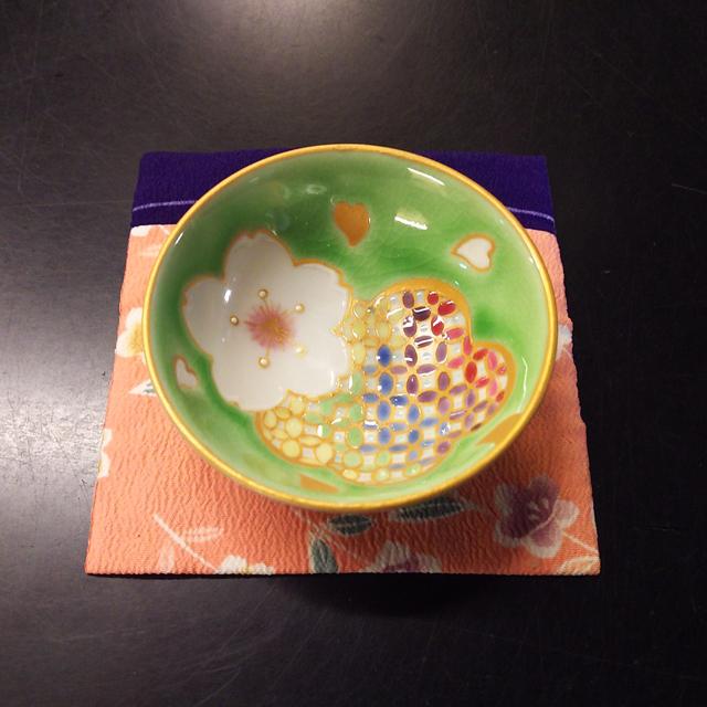 田谷颯音 桜 色絵五色平盃