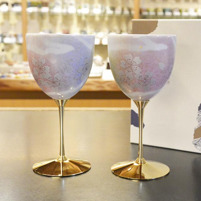 ペアワインカップ 花の舞