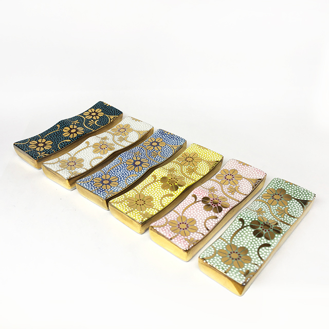 二連箸置 カトラリーレスト 鉄仙唐草(全6色)