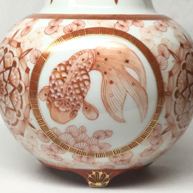 赤絵金魚香炉 金魚2