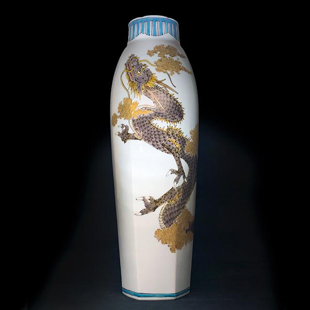 山田義明 龍図 花瓶