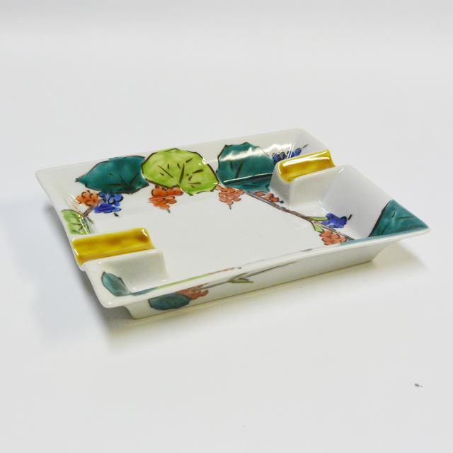 松浦慎弥・画 鳥に果実文 葉巻灰皿 2本用