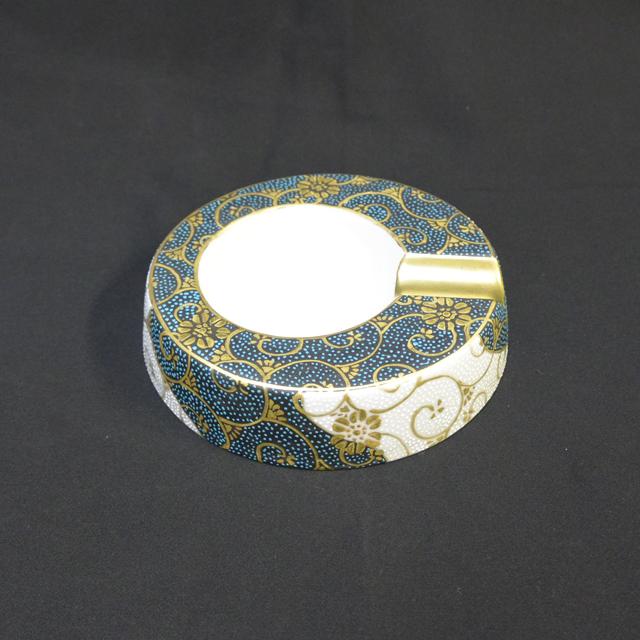 葉巻灰皿1本用佐伯信平・画 青粒白粒