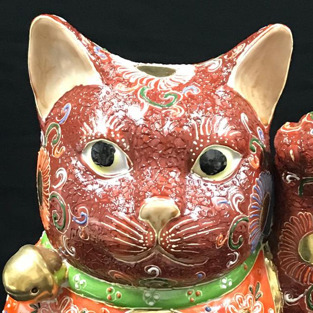 10号 招き猫 赤盛