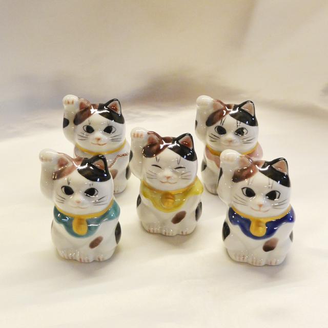 鏑木オリジナル 2号 風水招き猫 仕事運/金運/健康運/家庭運/恋愛運