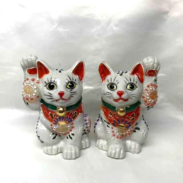 4号招き猫 白盛