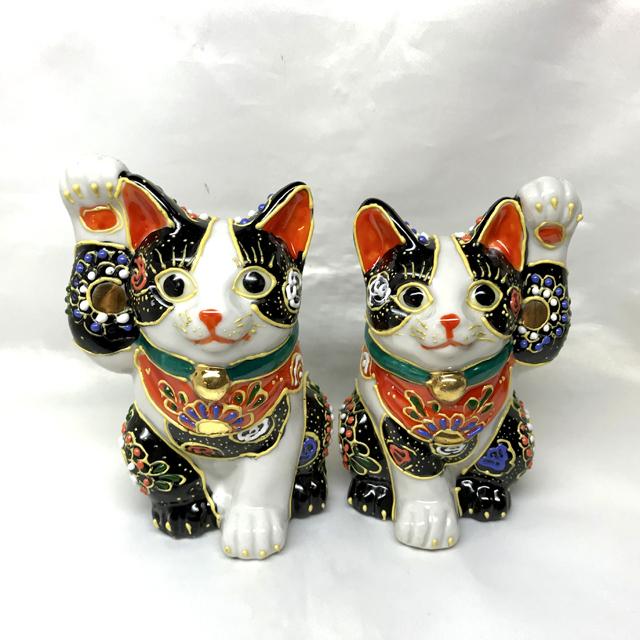4号招き猫 黒盛ブチ