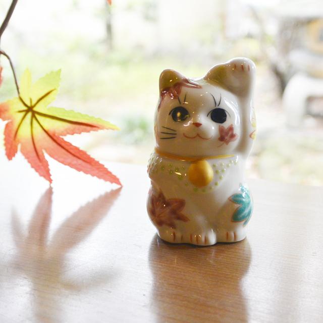 2号招き猫 11月もみじ 鏑木オリジナル