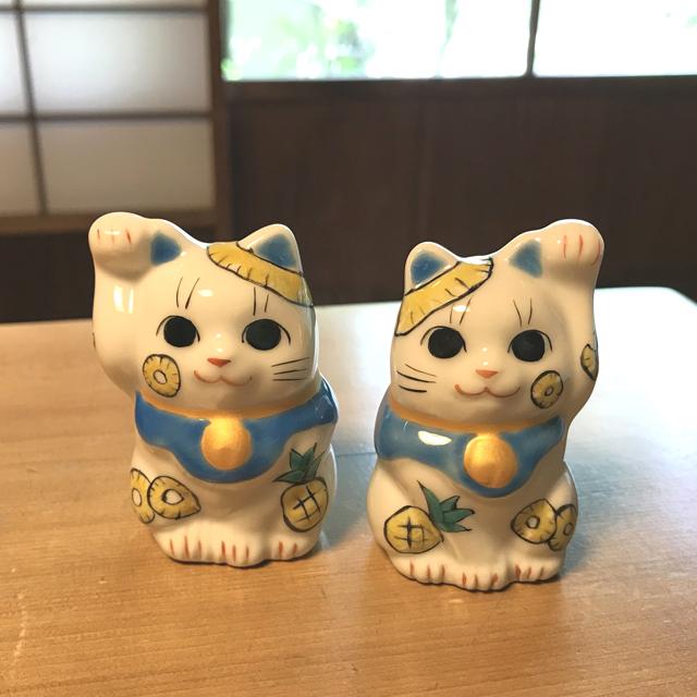 1.5号招き猫 8月パイナップル猫