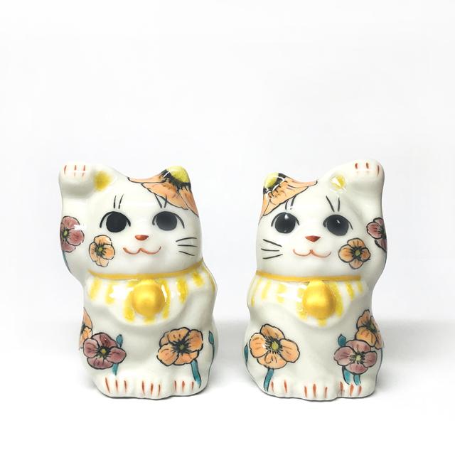 【月変わり1.5号招き猫】5月 ポピー【鏑木オリジナル】】
