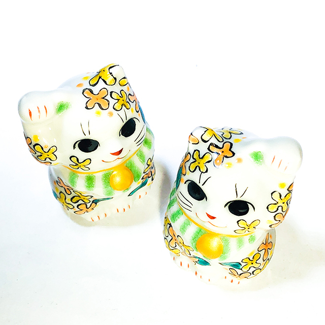 月変わり1.5号招き猫 9月 金木犀(キンモクセイ)【鏑木オリジナル】