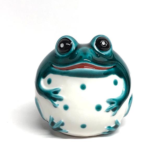 2.8号 蛙(緑釉・黄釉)