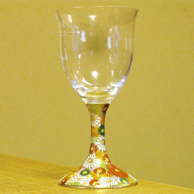 金花詰 九谷和グラス ワイングラス