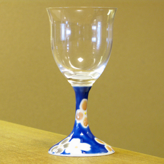 華文 九谷和グラス ワイングラス