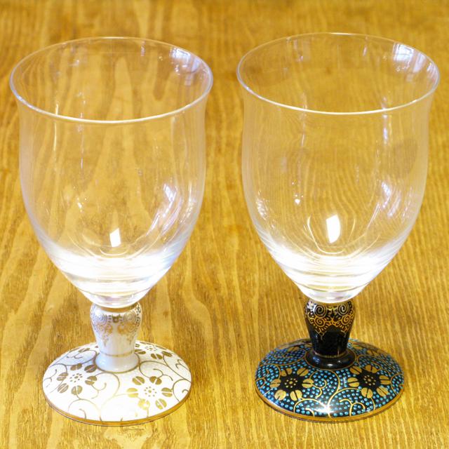 唐草鉄仙 青粒/白粒 九谷和グラス フリーグラス