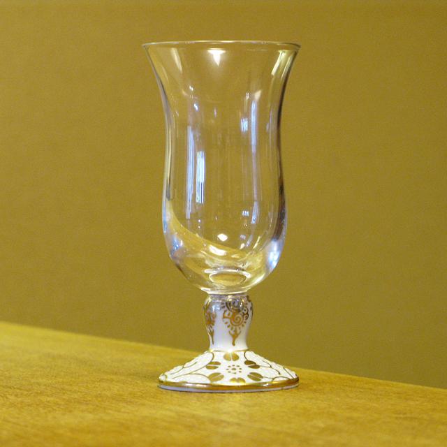 鉄仙唐草 白粒 冷酒グラス 九谷和グラス