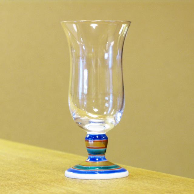 独楽(こま) 九谷和グラス 冷酒グラス