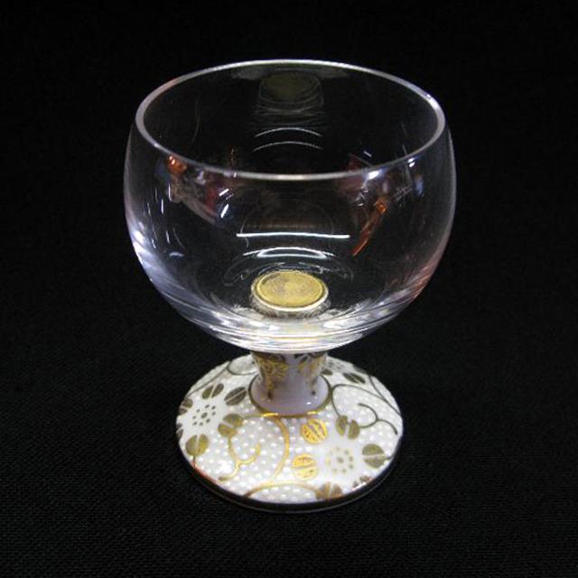 鉄仙唐草 九谷和グラス 馬上グラス