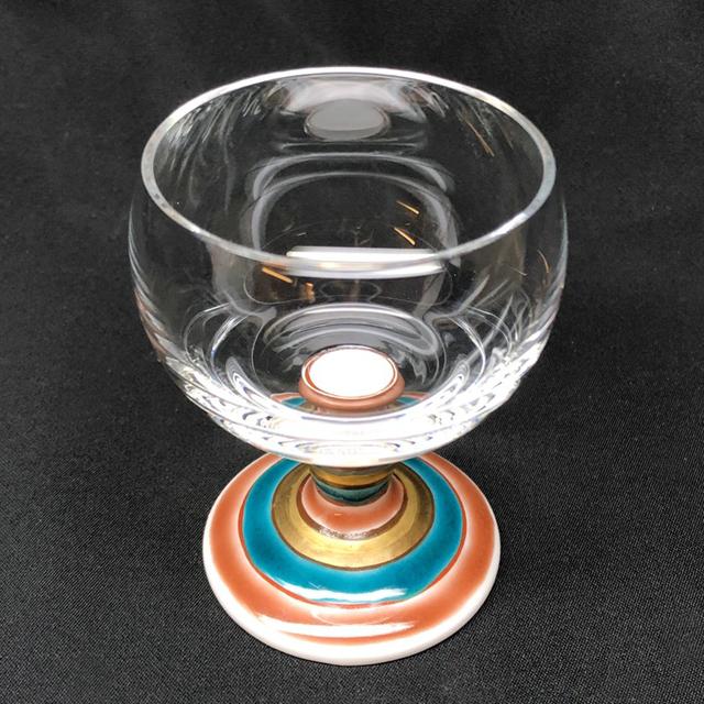 独楽(こま) 馬上グラス 九谷和グラス